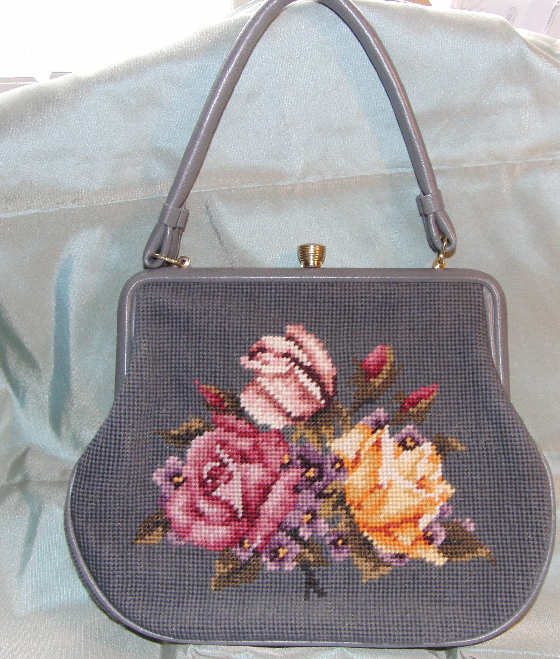 Petit point Tasche Handarbeit